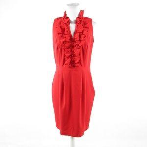 Andrew Marc red sleeveless sheath dress 10